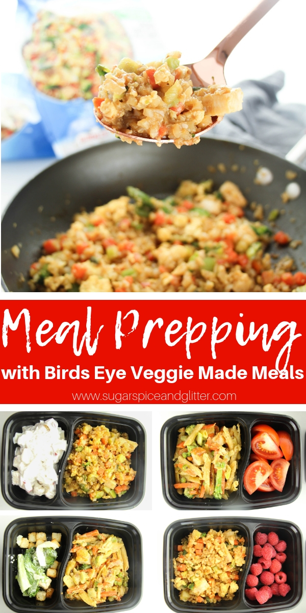 Make meal prepping during busy weeks easier with Birds Eye Veggie Made Meals, like this Chicken Fried Riced Cauliflower
