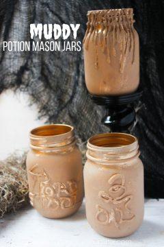 Muddy Magic Potion Mason Jars