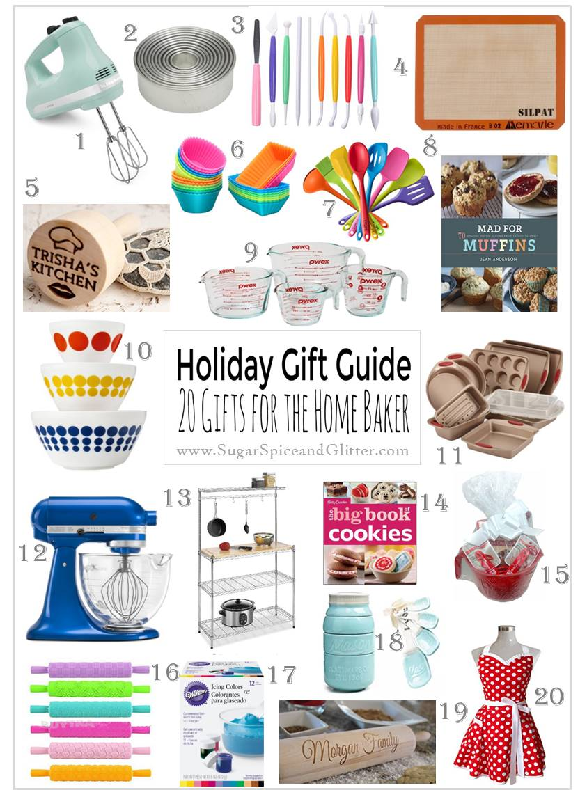 Amazon Gift Ideas for the Home Baker - from the best baking books, to must-have baking tools, including some personalized options