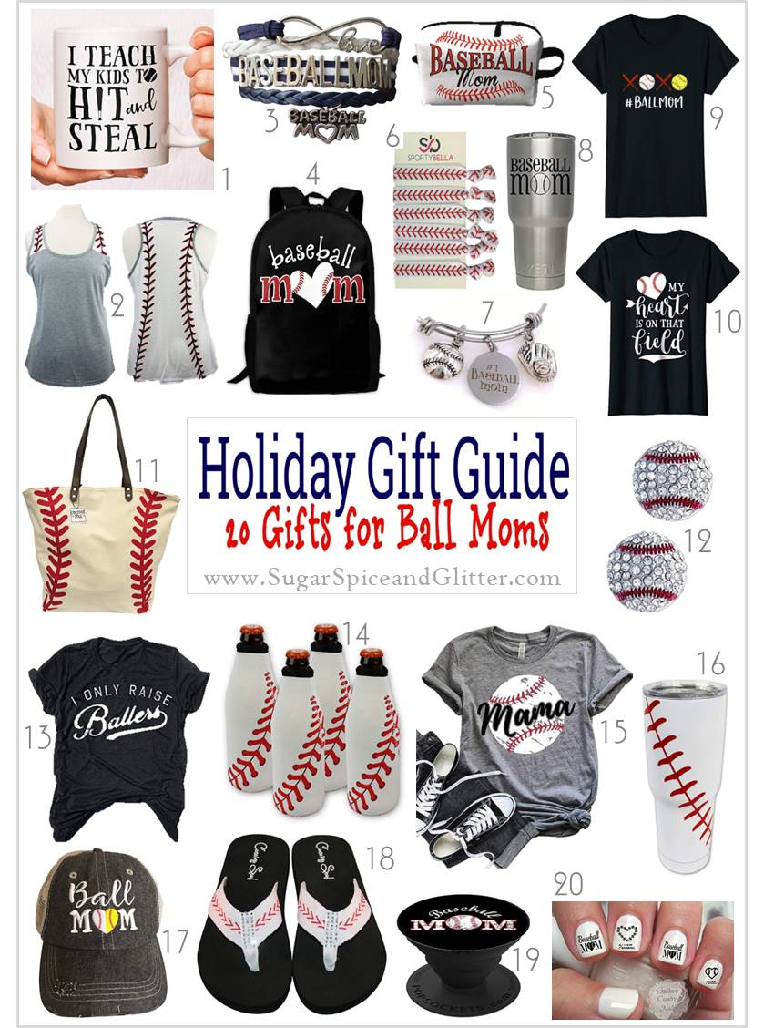 Unique and thoughtful gift ideas for Baseball Moms showing their pride