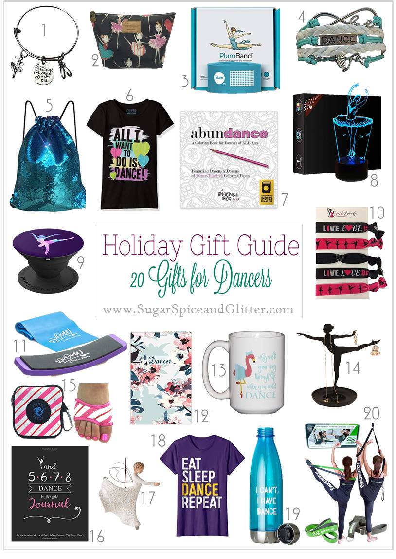Unique and thoughtful gift ideas for dancers - from healthy snack subscriptions to athletic gear and fun ways to show your dance pride