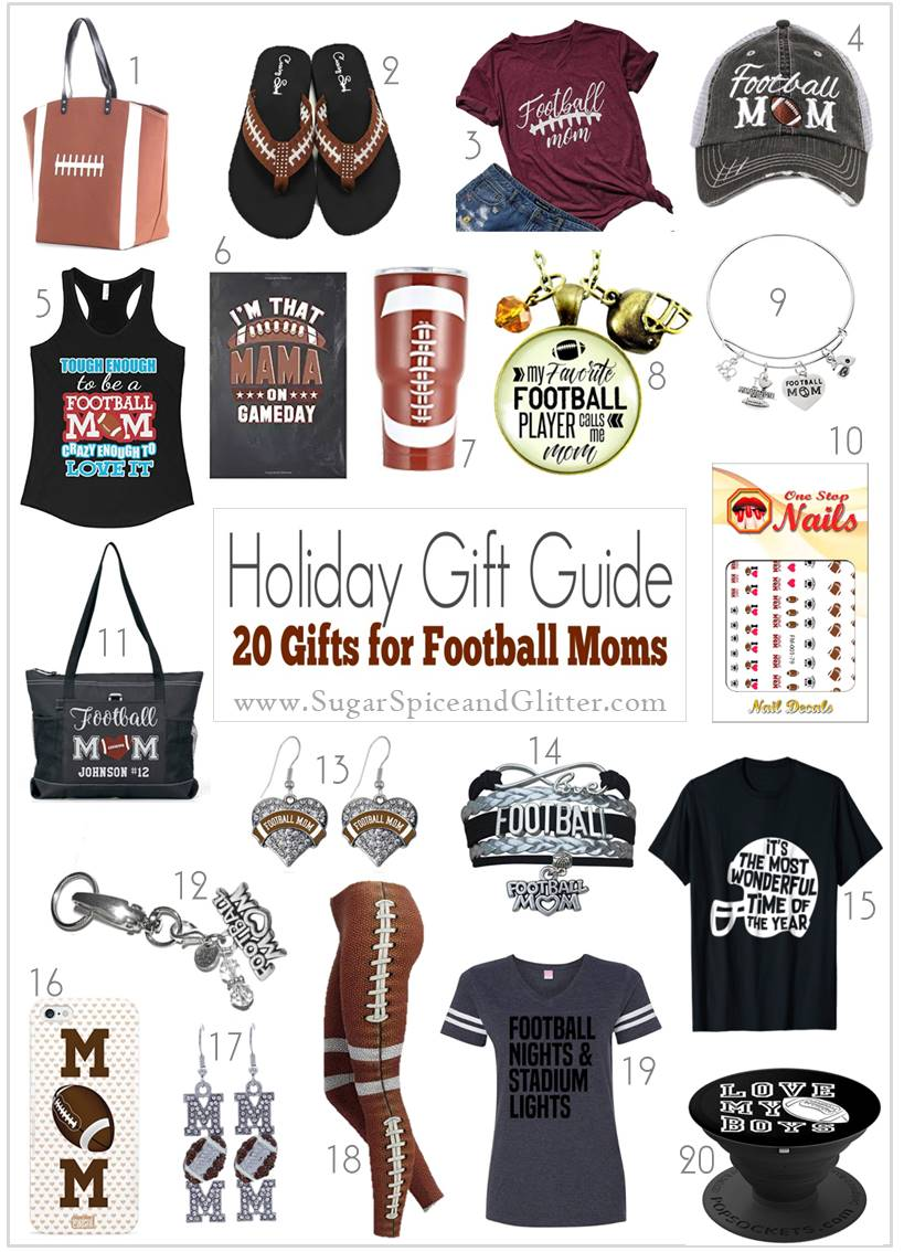 Unique and thoughtful gift ideas for Football Moms showing their pride