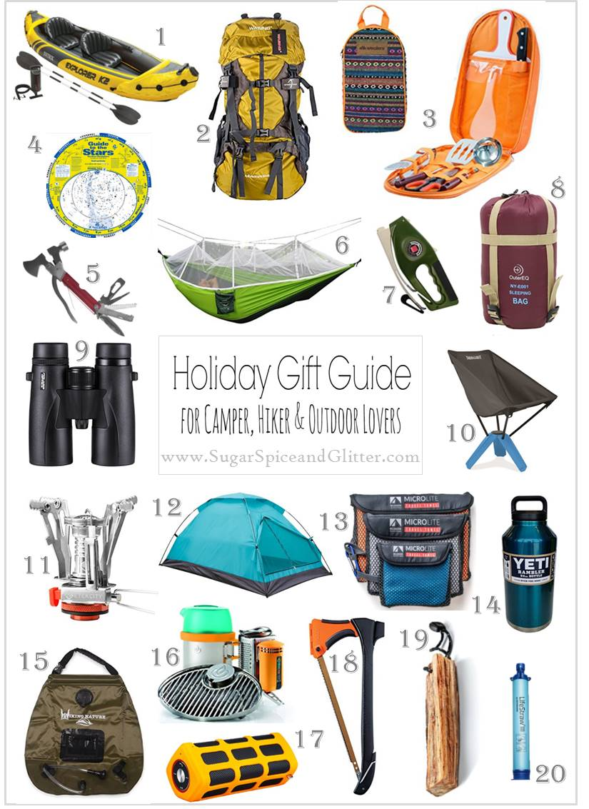 Amazon Gift Ideas for Hikers, Campers and Outdoor lovers of all types