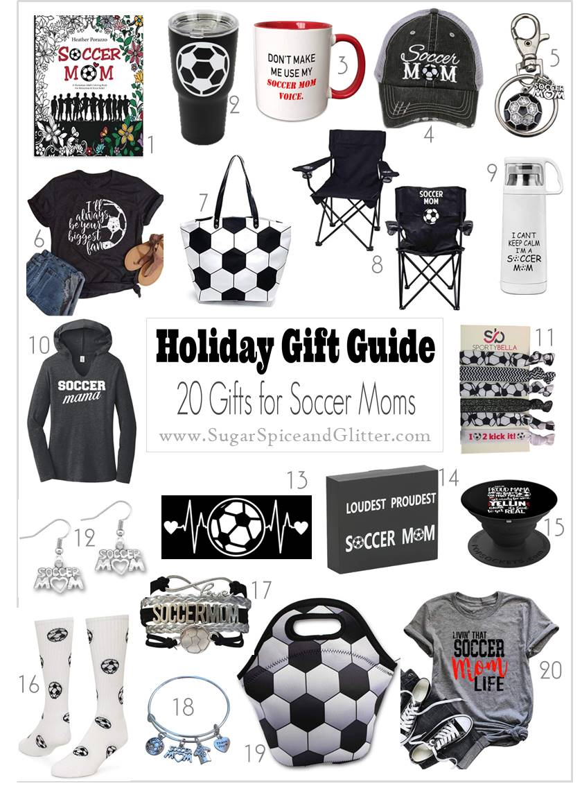 Unique and thoughtful gift ideas for Soccer Moms showing their pride