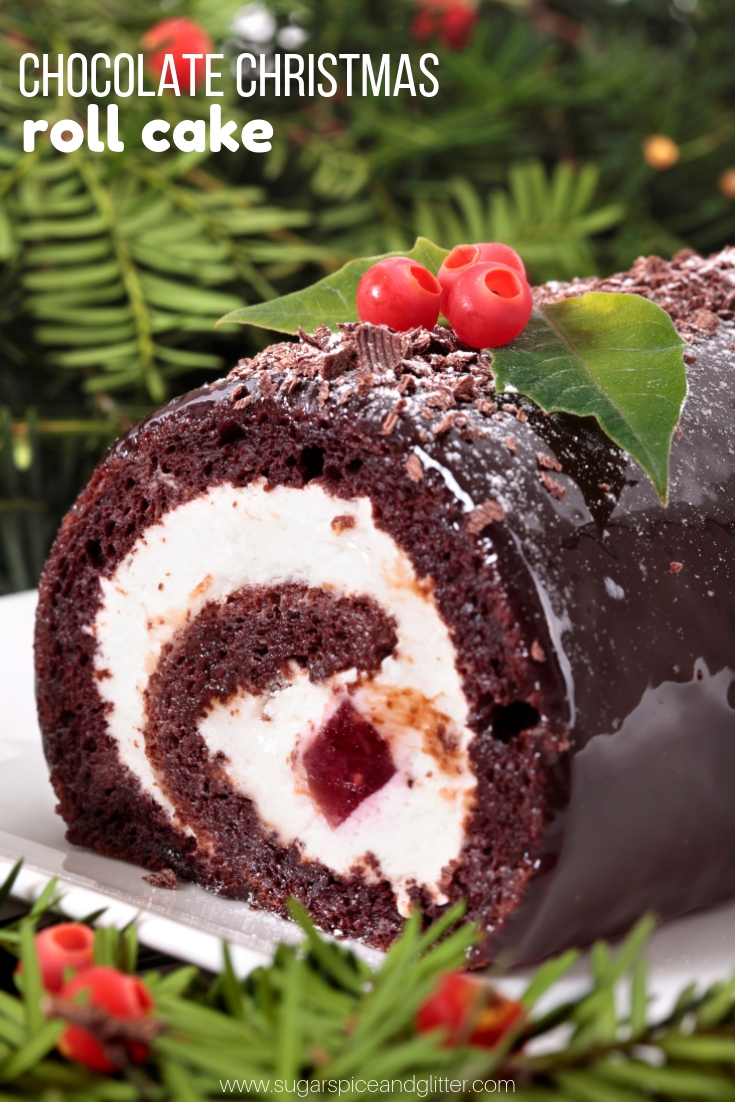A simple Chocolate Cake Roll perfect for any special occasion or as an alternative to a traditional yule log cake