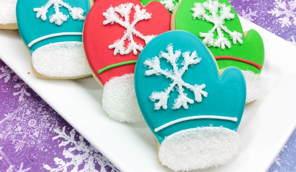 Cozy Winter Mitten Cookies Sugar Spice And Glitter