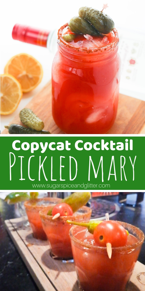 A delicious twist on a Bloody Mary, this Pickled Mary has a shot of dill pickle juice in the mix for a delicious brunch cocktail