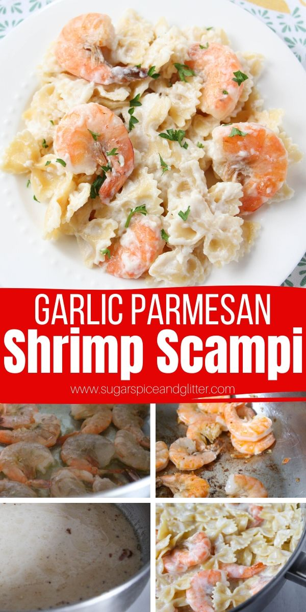 How to make restaurant-worthy Shrimp Scampi at home - and make it healthier and lower in fat, too! This is a protein-packed seafood meal the whole family will love