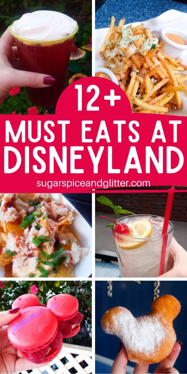 Plan the ultimate Disneyland vacation, right down to the food! Here's what to eat (and what to skip) at Disneyland - including a free printable checklist