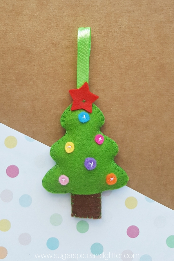Felt Christmas Tree Pattern.Felt Christmas Tree Craft Sugar Spice And Glitter