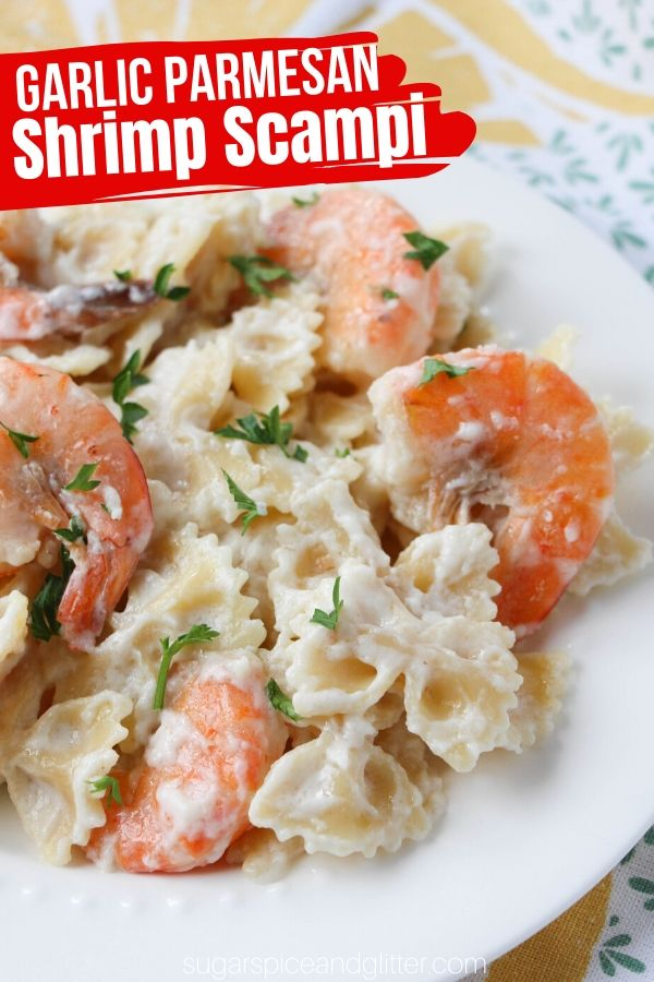 This Copycat Shrimp Scampi recipe is 1/3 of the calories and has way less fat and sodium than the Cheesecake Factory original. A delicious seafood recipe the whole family will love