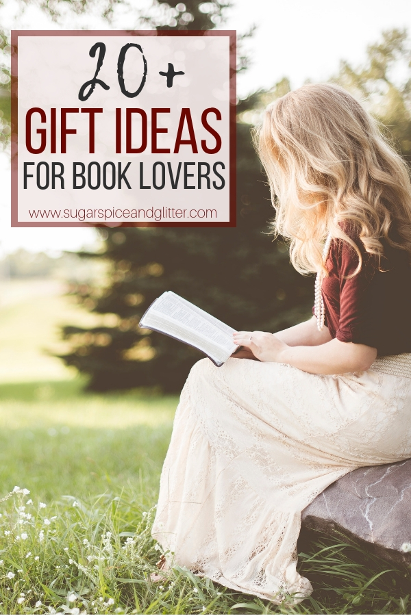 Awesome gift ideas for book lovers, from straight-forward standards to cute and quirky book-inspired gifts