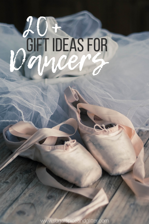 Unique collection of gift ideas for dancers - from healthy snack subscriptions, to stretching gear, cute tshirts and more!