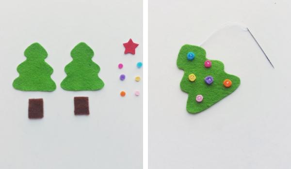 Felt Christmas Tree Craft Sugar Spice And Glitter