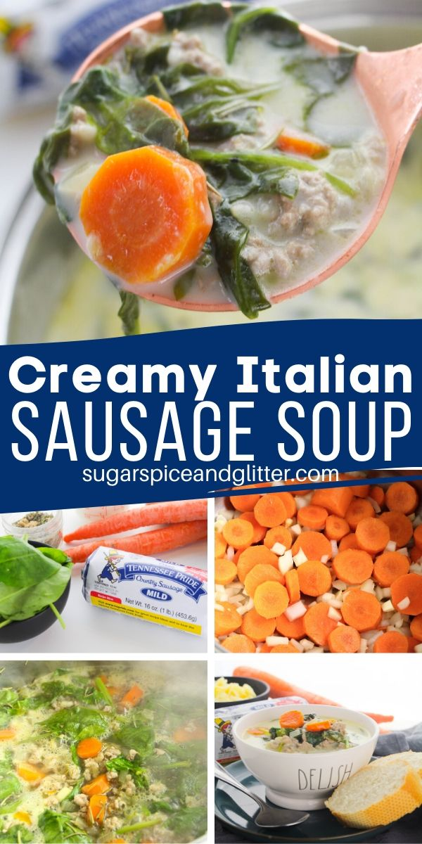 How to make a creamy Italian soup with sausage and spinach just like Olive Garden's