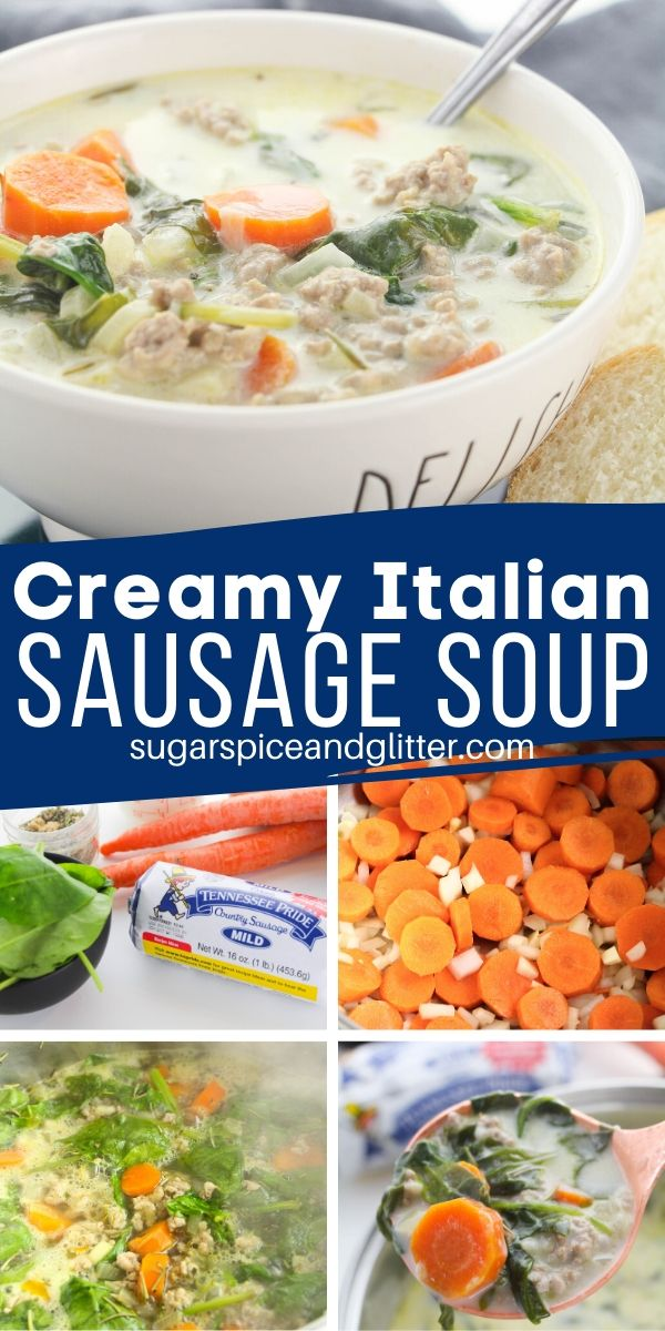 This delicious and creamy Italian sausage soup is a filling and healthy meal the whole family will love.