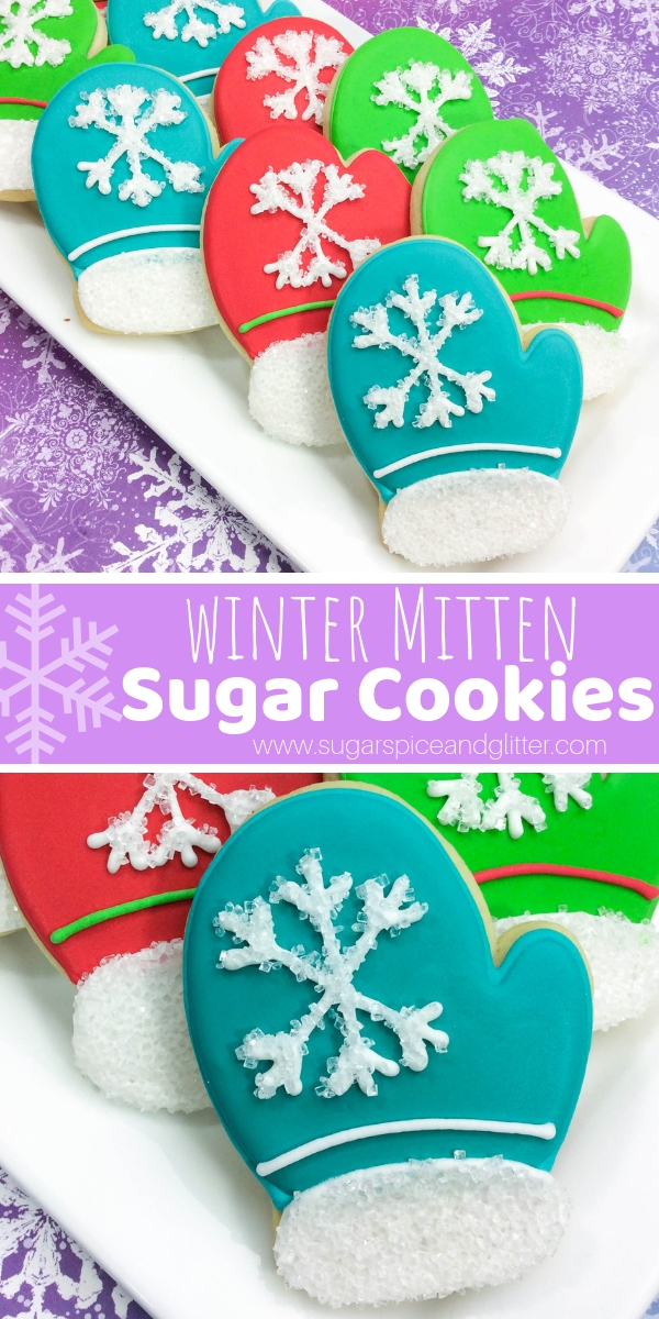How fun are these Mitten Sugar Cookies for a winter party food? These would be the perfect winter dessert paired with a cup of hot chocolate