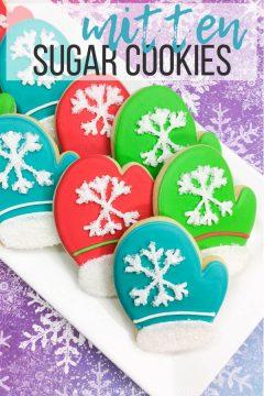 Cozy Winter Mitten Cookies