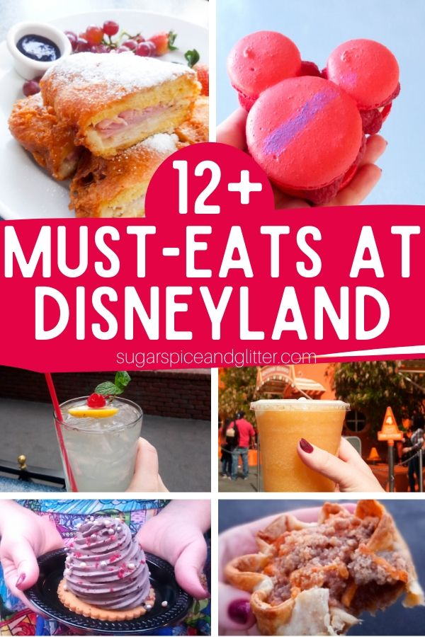 The Best Disneyland Snacks and Drinks plus a printable checklist - everything you need to eat at Disneyland including Mickey Beignets and Garlic Parmesan Fries