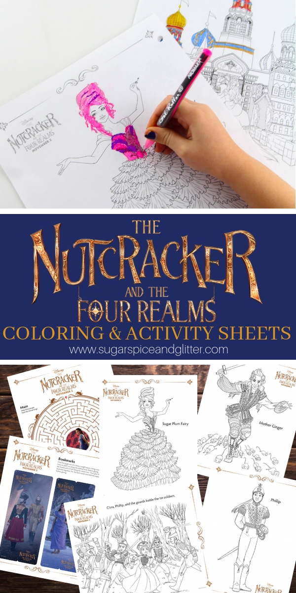 Free printable coloring sheets inspired by Disney's the Nutcracker and the Four Realms. Nutcracker coloring sheets and printable activities