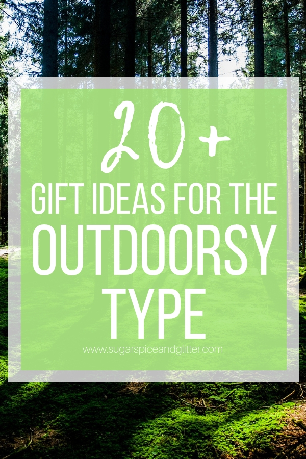 Gift Ideas for the Outdoorsy Person on your list - from hiking and camping essentials, to star guides and outdoor cooking gear, this gift guide has it all