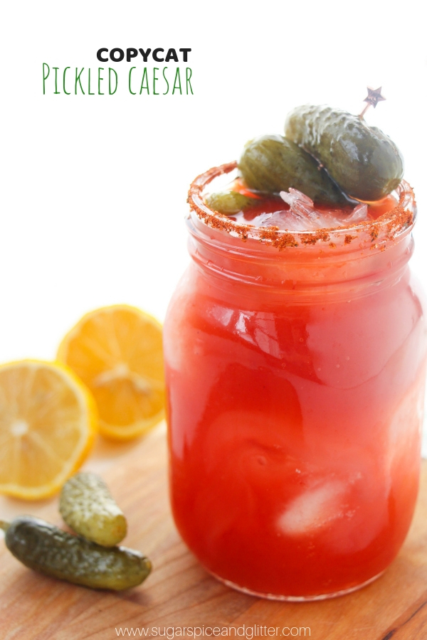 Pickled Caesar Cocktail - a delicious Caesar Cocktail recipe with a pickle twist!