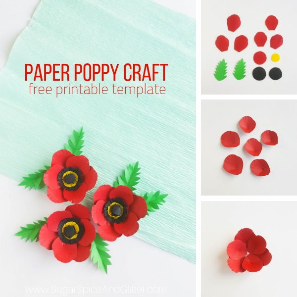 How to make paper poppies for Memorial Day