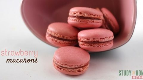 Strawberry Macarons With Video Sugar Spice And Glitter