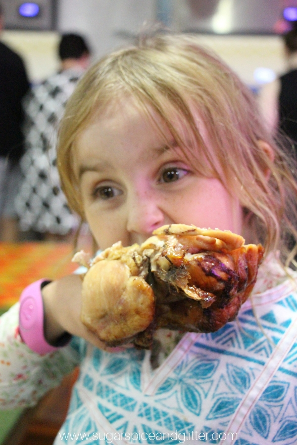 Turkey legs at Disney are always a good idea - especially at Thanksgiving!