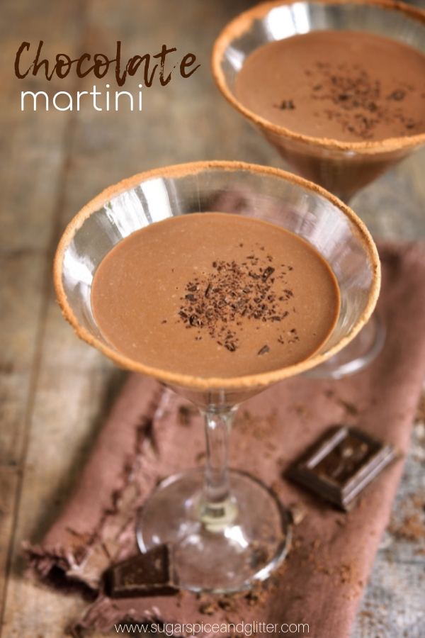 Bailey's, vodka and chocolate ganache combine to make the ULTIMATE Chocolatini (Chocolate Martini). The extra effort to make your own ganache is so worth it!