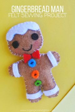 Felt Gingerbread Man Sewing Craft