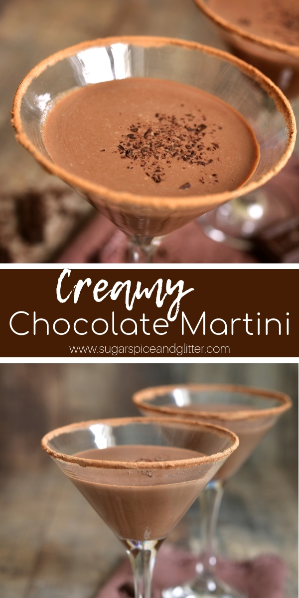 This decadent, creamy Chocolate Martini is made with homemade ganache, Bailey's and vodka. Simply the best vodka cocktail recipe if you love chocolate!