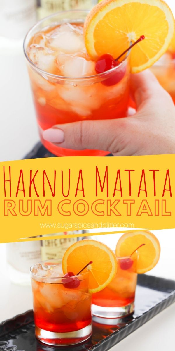 This Lion King inspired Hakuna Matata cocktail looks like a pretty African sunset in a glass. The perfect tropical summer drink to enjoy with friends or serve at a Lion King-themed party