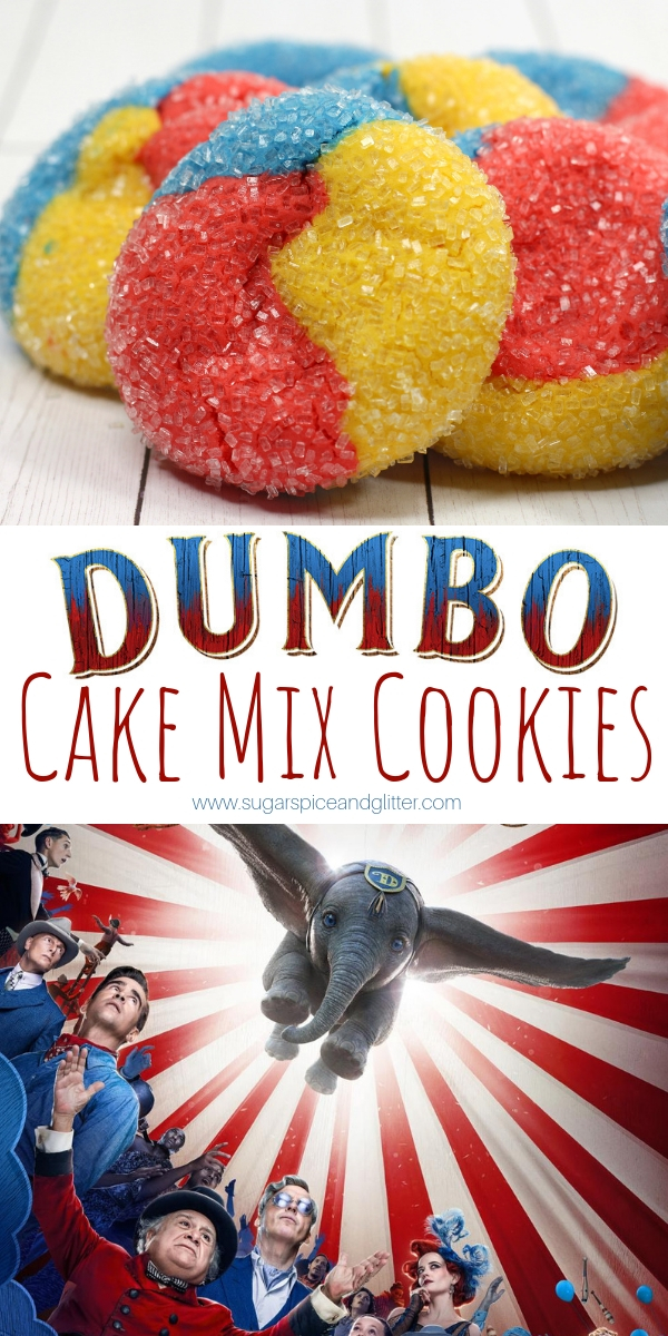 You haven't lived til you've seen an elephant fly - or tried these Dumbo cake mix sugar cookies! A fun Disney dessert recipe for a family movie night