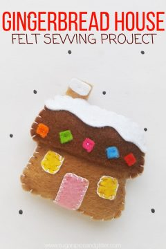 Felt Gingerbread House Craft