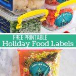 Printable Holiday Food Labels