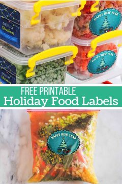 Printable Holiday Food Labels