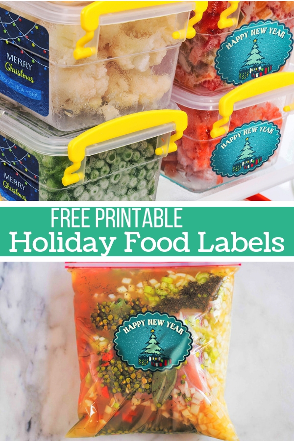 Free Printable Holiday Food Labels - for gifting or storing food prep for the holidays