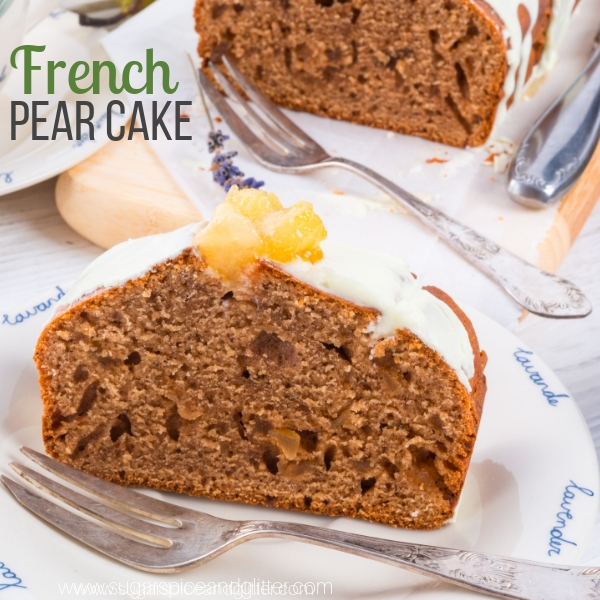 How to make a traditional French Pear Cake with ginger and spices