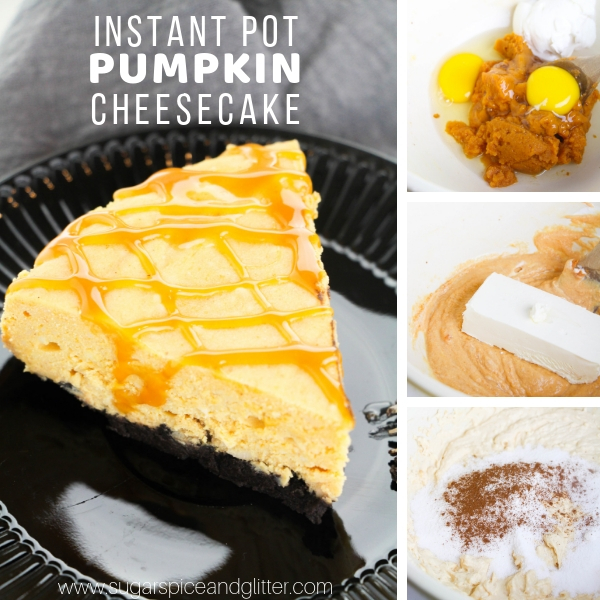 How to make pumpkin cheesecake in the instant pot, a super simple no bake recipe with amazing texture and flavor