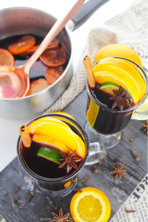 This hot spiced wine (or hot mulled wine) is a traditional and festive recipe to add to your Christmas festivities.