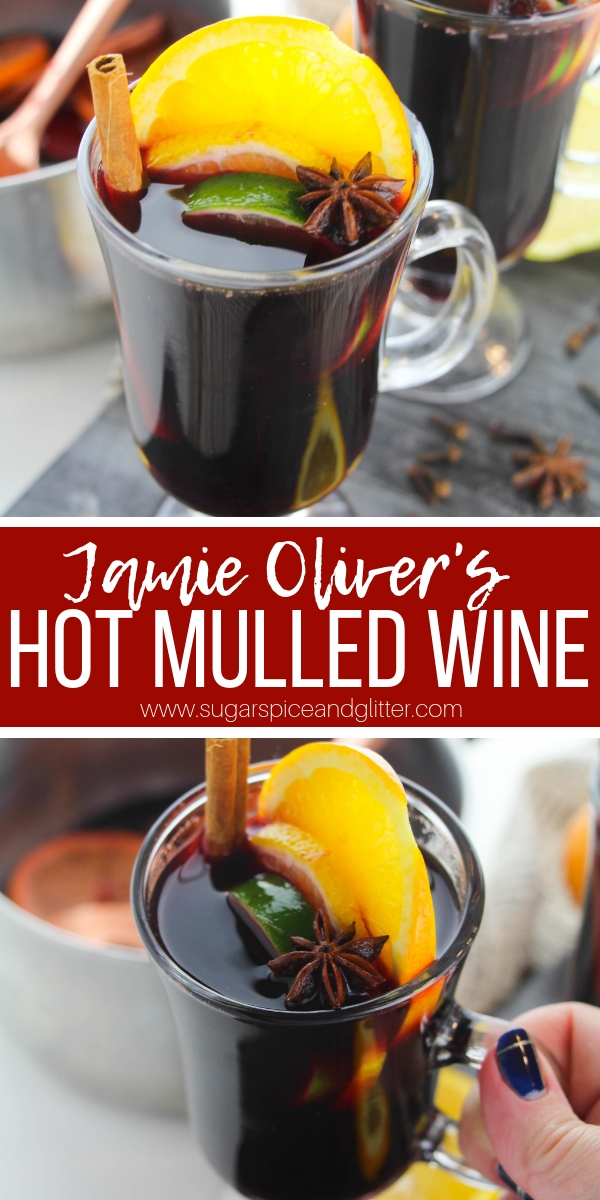 A super simple, not-too-sweet recipe for Hot Mulled Wine, a traditional hot spiced wine that combines the best winter flavors for the ultimate hot cocktail recipe