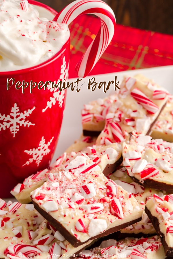 How to make Peppermint Bark that won't separate or crack, and is the perfect peppermint chocolate flavor - not overly minty