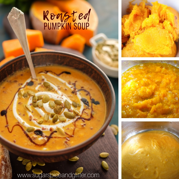 How to make roasted pumpkin soup with sugar pumpkin and apple