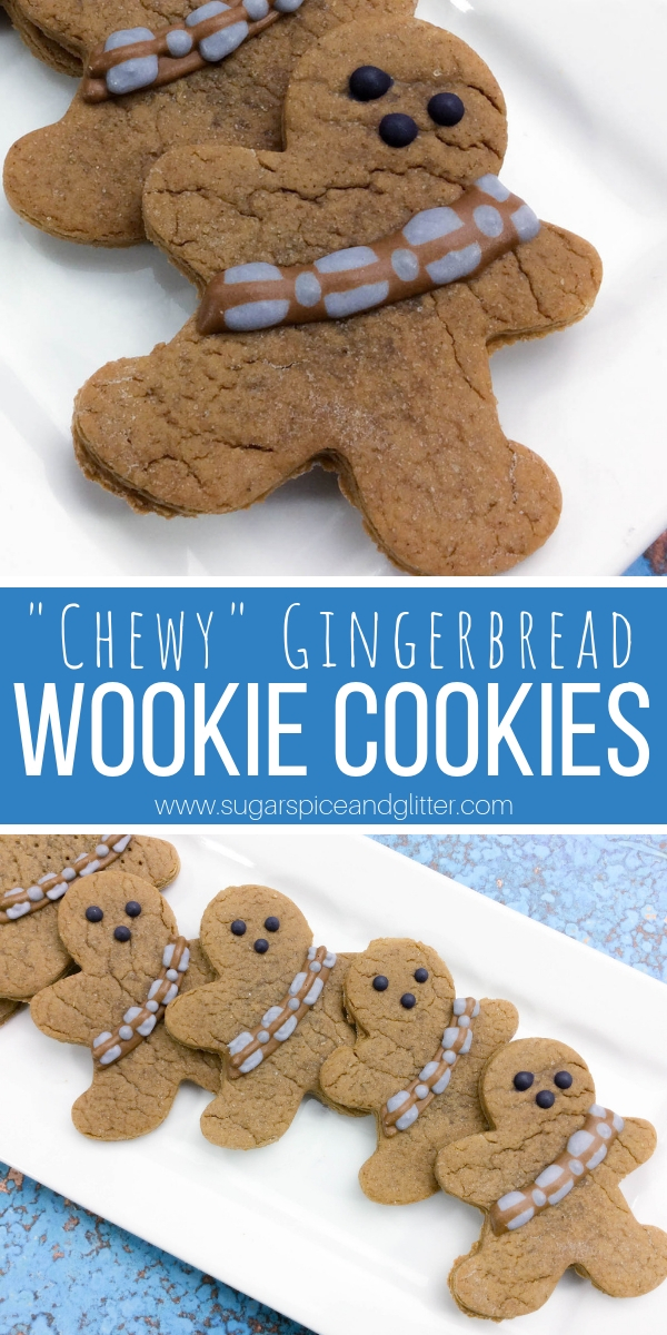 How to make Chewbacca-inspired Gingerbread Wookie Cookies for a Star Wars-inspired Christmas dessert! These cookies are the perfect homemade gift for the Star Wars fan in your life