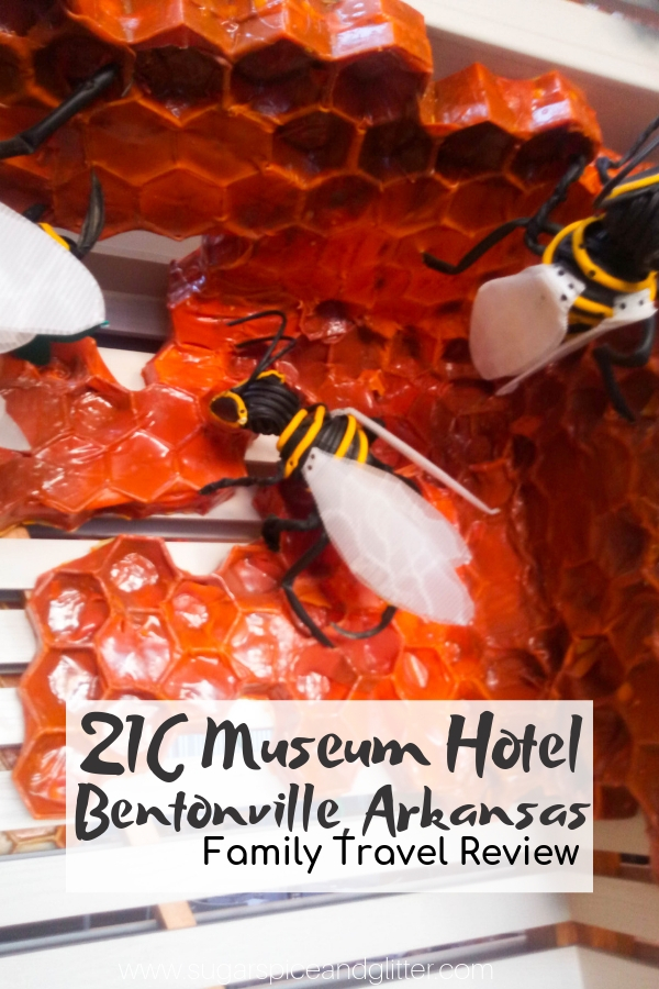 If you have a hotel bucket list, you need to add 21C Museum Hotel in Bentonville, AR to it. This boutique hotel makes you feel like you are staying in a museum, because you actually are!