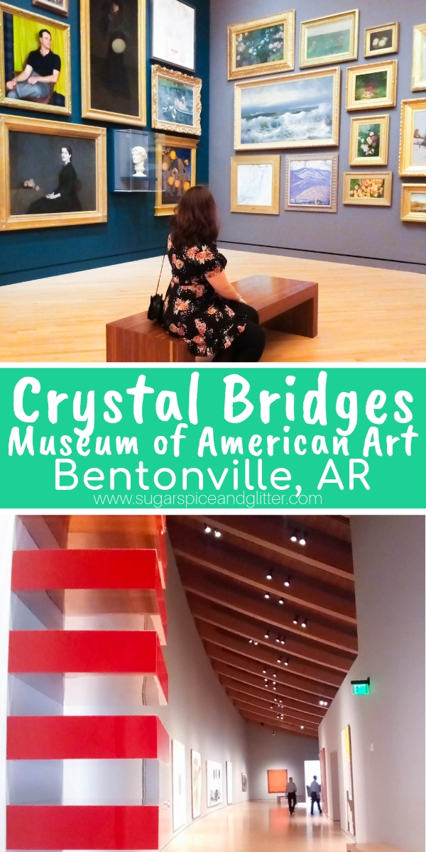 One of the newest and best art museums in American, Crystal Bridges connects modern innovation with historical awareness to beautiful effect