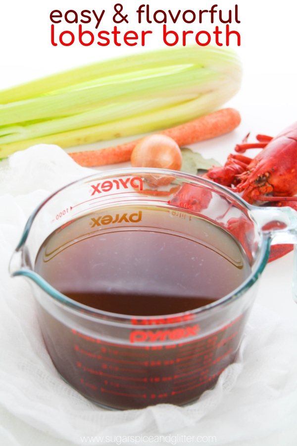 This lobster stock recipe is super simple and adds incredible depth of flavor to any seafood dishes that you add it to – and don't feel like you have to only use it in lobster recipes!
