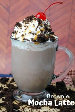 Salted Caramel Brownie Mocha Latte