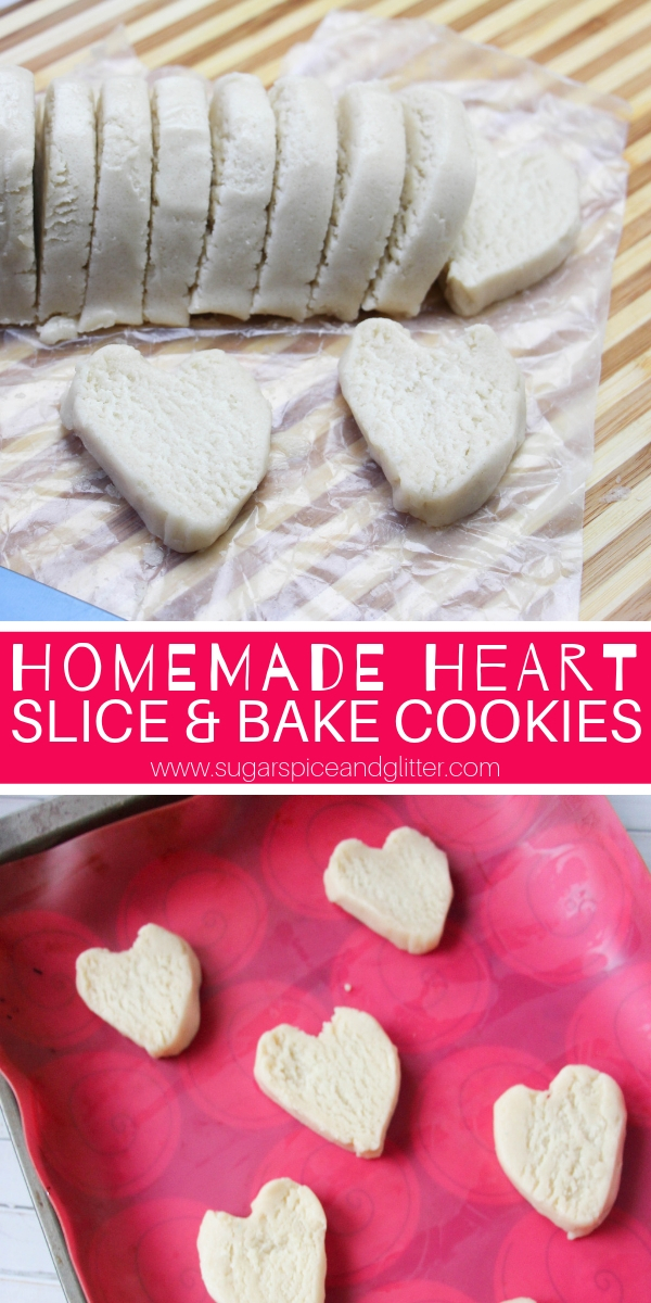 How to make Heart Slice and Bake Cookies from scratch! A super simple recipe and tutorial for homemade slice and bake sugar cookies